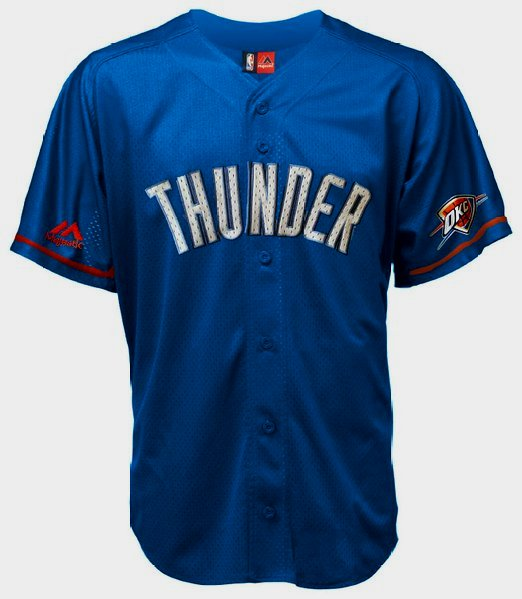 28c12c092a4e Details about Kevin Durant Oklahoma City Thunder Baseball Jersey Majestic  NBA The Durantula