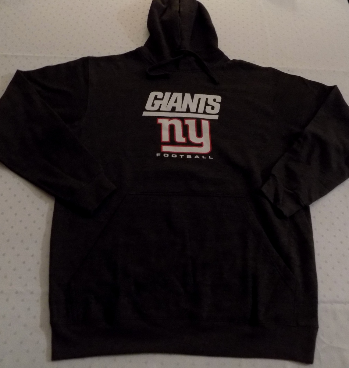 Details about New York Giants Pullover Hoodie Large Charcoal Gray Majestic  NFL