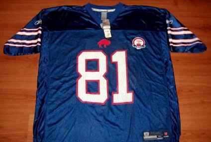 Details about Terrell Owens  81 Buffalo Bills 50th Anniversary Throwback  Jersey 2XL Reebok NFL 4031cb48c