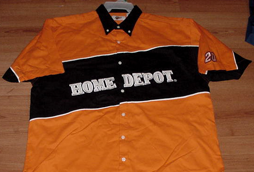 tony stewart home depot uniform pit crew shirt nascar free shipping rh ebay com